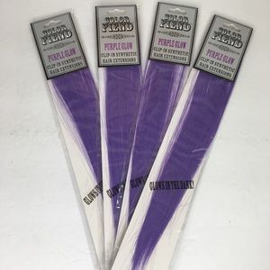 Used, Purple Glow Synthetic Hair Extensions - Clip InsNWT for sale